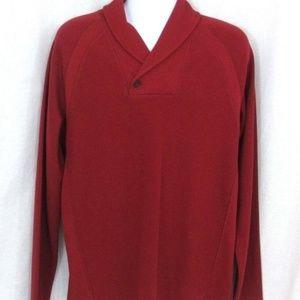 NWT Calvin Klein Mens LG Refined Dark Red Sweater